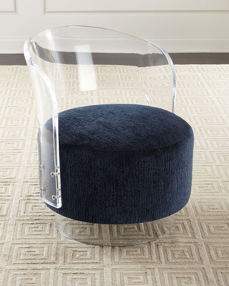Angelina Acrylic Swivel Chair