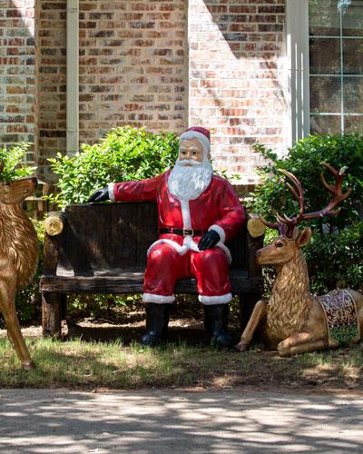 72 Indoor/Outdoor Sitting Santa Decoration
