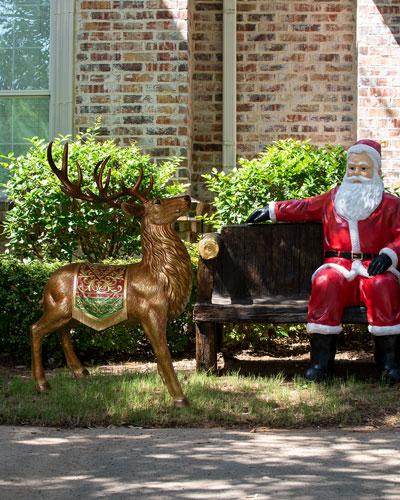 49 Indoor/Outdoor Standing Reindeer Decoration