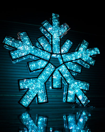 Double-Sided Snowflake with Silver Frame