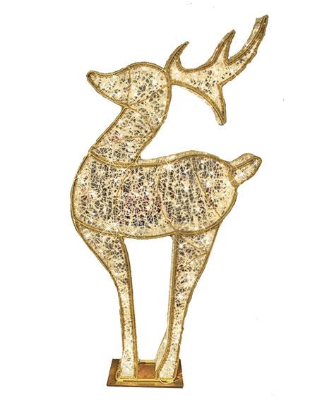 """3D Deer with Lights Indoor/Outdoor Christmas Decoration, 6'6"""""""