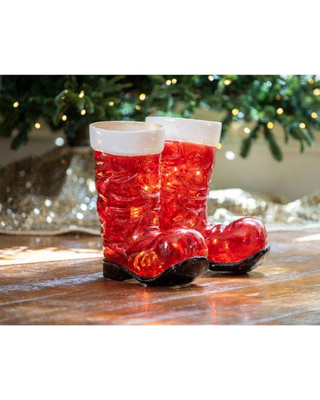 Illuminated LED Santa Boots, 15