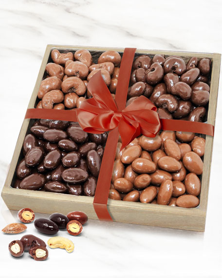 Belgian Chocolate Covered Almond and Cashew Tray
