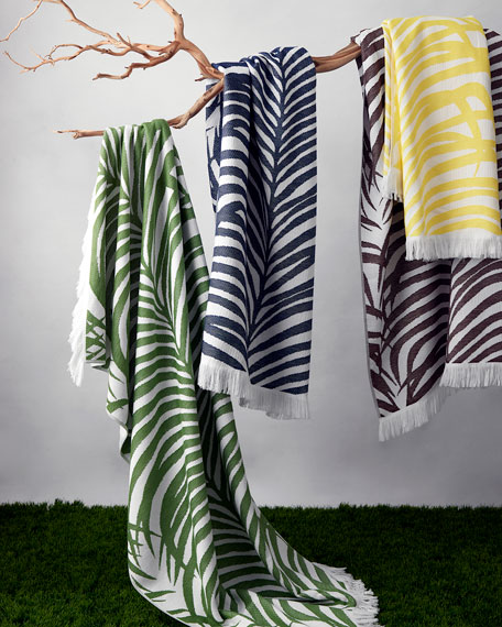 Zebra Palm Beach Towel