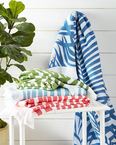 Zebra Palm Beach Towel