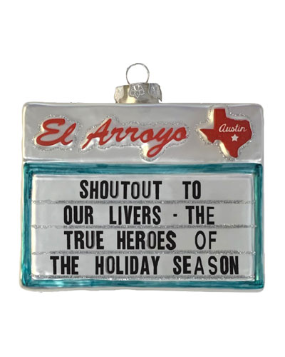 Holiday Heroes Sign Ornament