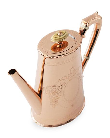 Copper & Silver Tall Coffee Pot #14 (Late 19th Century)