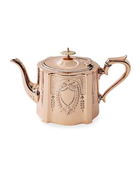 Copper & Silver Coffee/Tea Pot #6 (Late 19th Century)