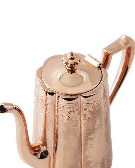 Copper & Silver Tall Coffee Pot #10 (Late 19th Century)