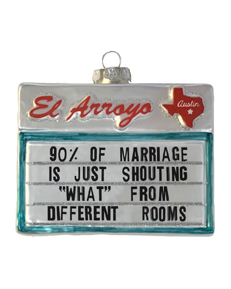90% of Marriages Sign Ornament