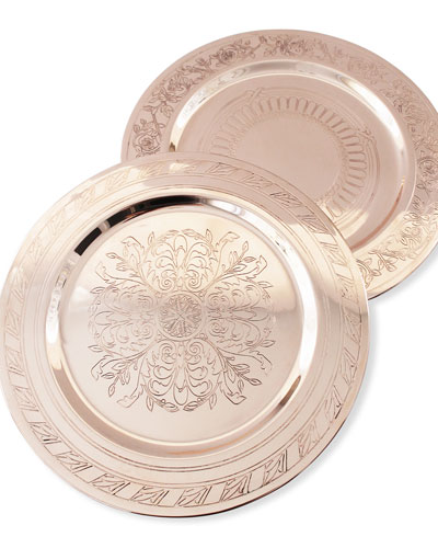 French Inspired Medallion Chargers