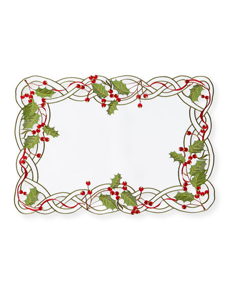 SFERRA Holly Vine Placemats, Set of 4