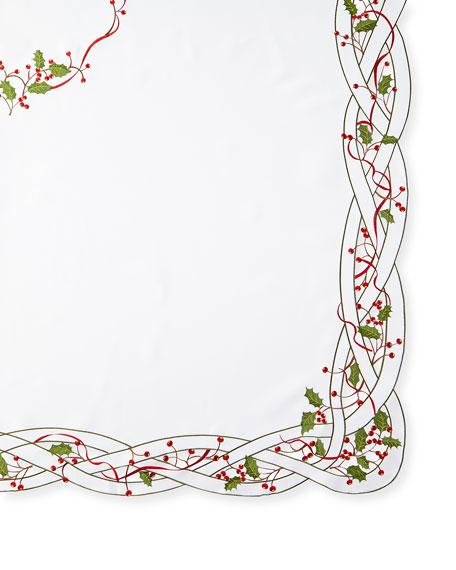 "Holly Vine 72"" x 126"" Tablecloth & 12 Napkins"