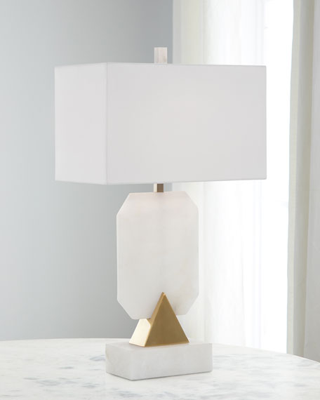 Emerald Cut Alabaster Lamp
