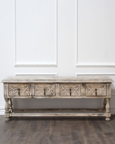 Carmen Carved Drawer Console