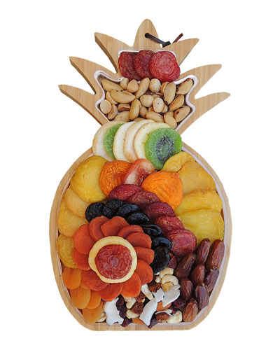 Pineapple Cutting Board with Fruit & Nuts