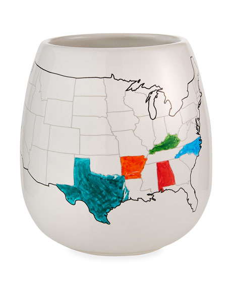 USA Color Map Mug with Coloring Pen
