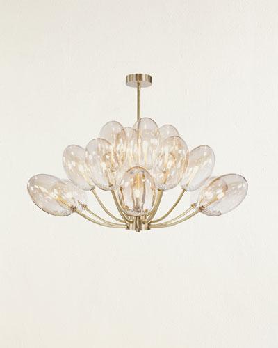 Echo Glass Globe 16-Light Chandelier