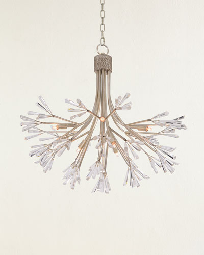 Luna Crystal Wand Branched 9-Light Pendant Chandelier