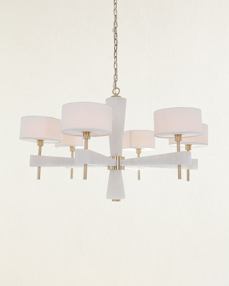 John-Richard Collection Alabaster 6-Light Chandelier