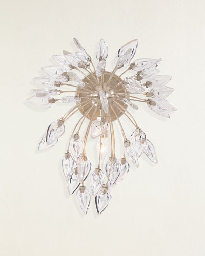Reveille Crystal Constellation Single-Light Wall Sconce