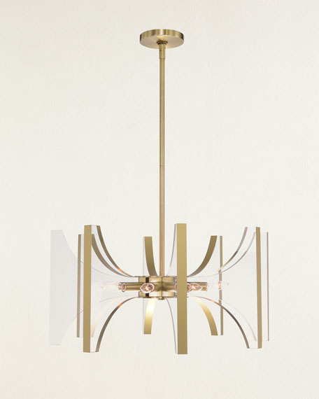 John-Richard Collection Genesis Acrylic and Antique Brass 8-Light