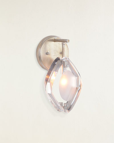 Faceted Glass Single-Light Wall Sconce