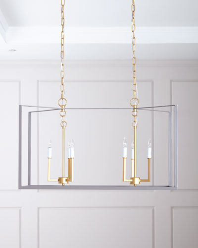Manning Linear Chandelier  Gray