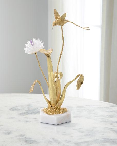 Flower & Hummingbird Sculpture