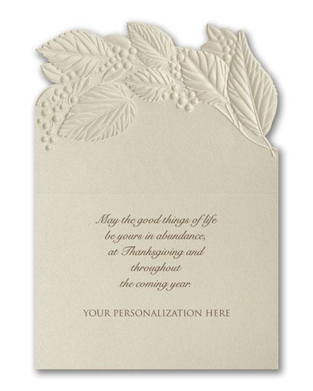 Thanksgiving Elegance Greeting Cards, Set of 25