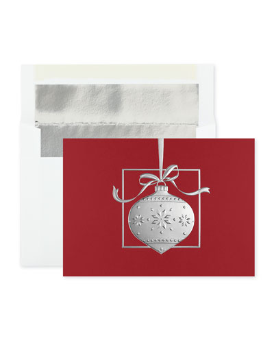 Sterling Bauble Greeting Cards  Set of 25