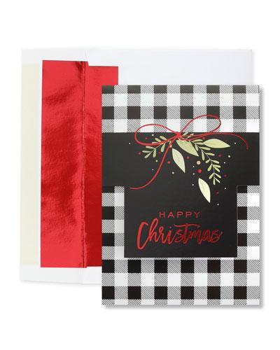 Buffalo Plaid Christmas Cards  Set of 25