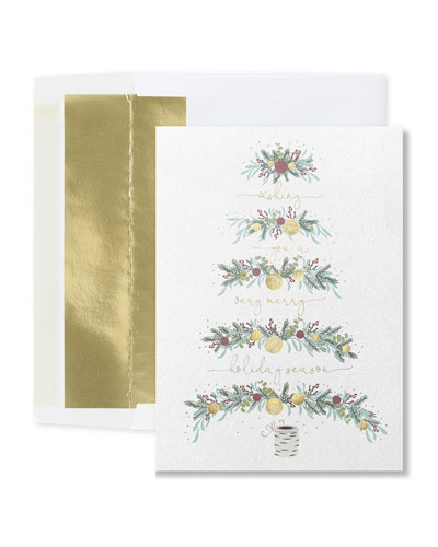 Tree Wishes Christmas Cards  Set of 25