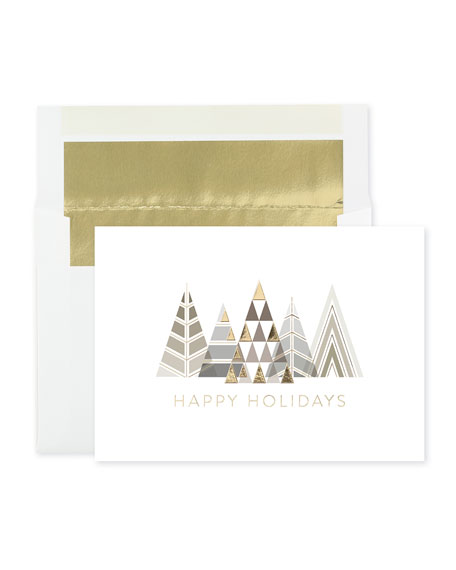 Modern Trees Holiday Cards, Set of 25