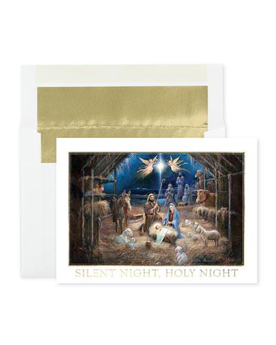 Midnight Manger Christmas Cards  Set of 25