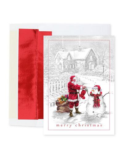 Santa's Friend Christmas Cards  Set of 25