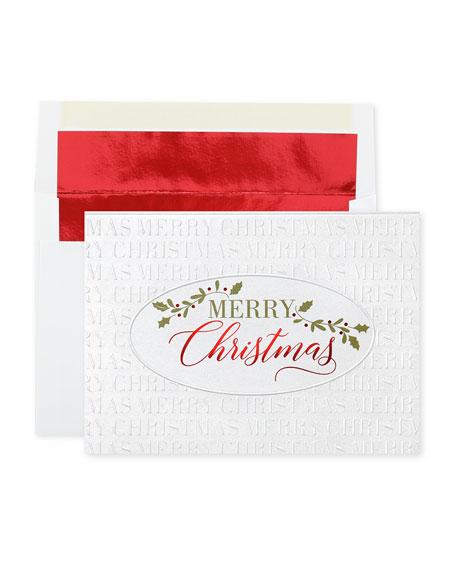 Christmas Simplicity Greeting Cards, Set of 25