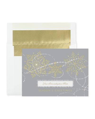 Winter Swirls Greeting Cards  Set of 25