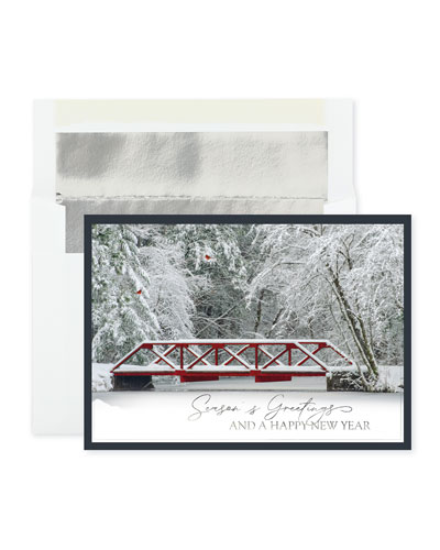 Winter Crossing Greeting Cards  Set of 25