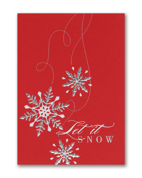 Falling Snow Greeting Cards, Set of 25