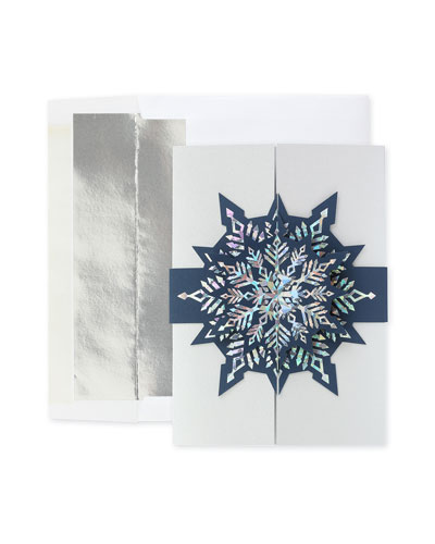 Glistening Snow Greeting Cards  Set of 25