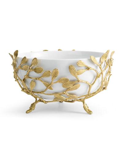 Mistletoe Porcelain Serving Bowl