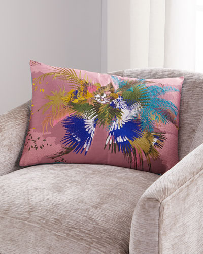 Oiseau Fleur Bourgeon Pillow