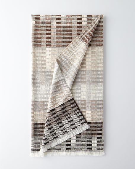 Designers Guild Longhena Espresso Throw