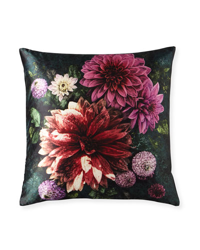 Dahlia Noir Fuchsia Pillow