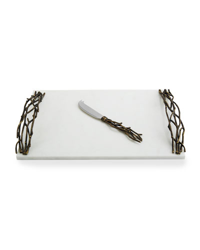 Twig Cheese Board with Knife