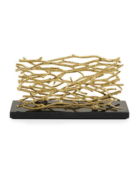 Twig Gold Vertical Napkin Holder