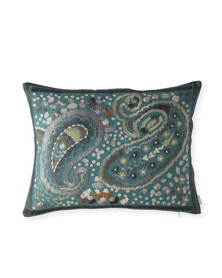 Designers Guild Uchiwa Teal Pillow