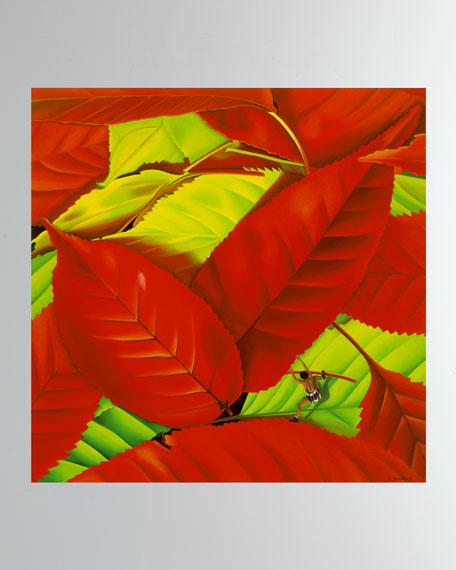 """Feuille Rouge"" Fine Art Print"