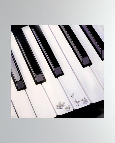 """Piano et Zebres"" Fine Art Print"